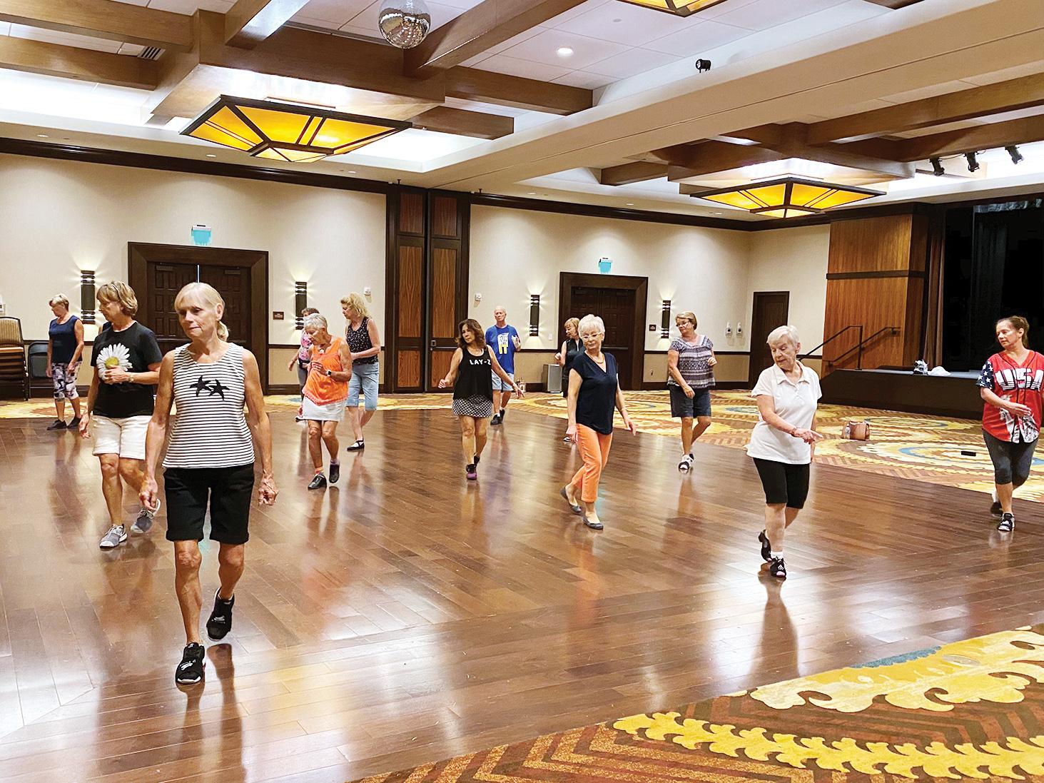 Improver line dancers