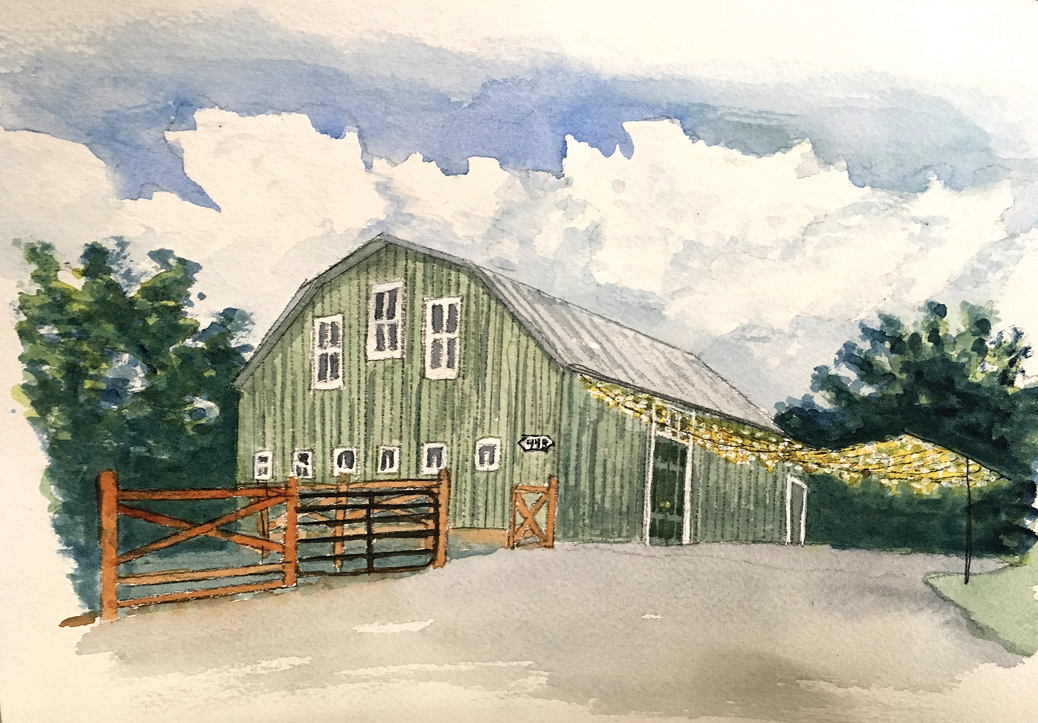 Green Barn by Don