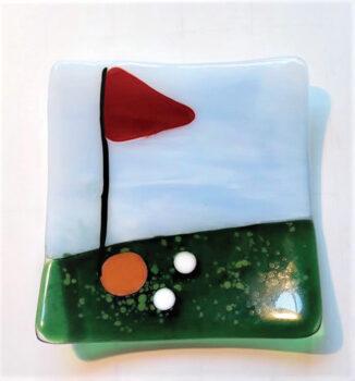 Golf plate by Janet Vaupel