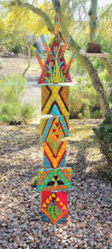 Totem pole by Connie Lundberg