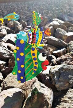 Yard art (fish) by Mary Nunn