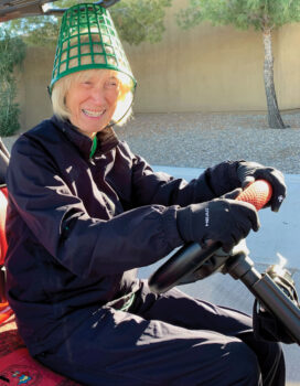 Robin Barber managed to find a green hat!