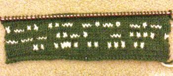 Knitting Morse Code