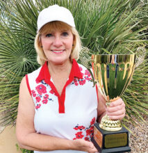 Tournament winner Linda Walker