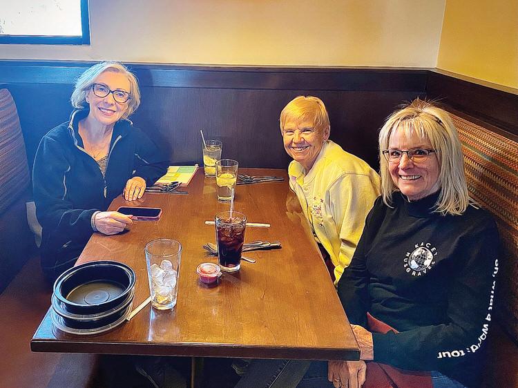 Executive Board Kathy Devlin, CJ Azaria, and Linda Gayer (missing Carol Enright)