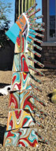 Native American Chief totem by Connie Lundberg, instructor