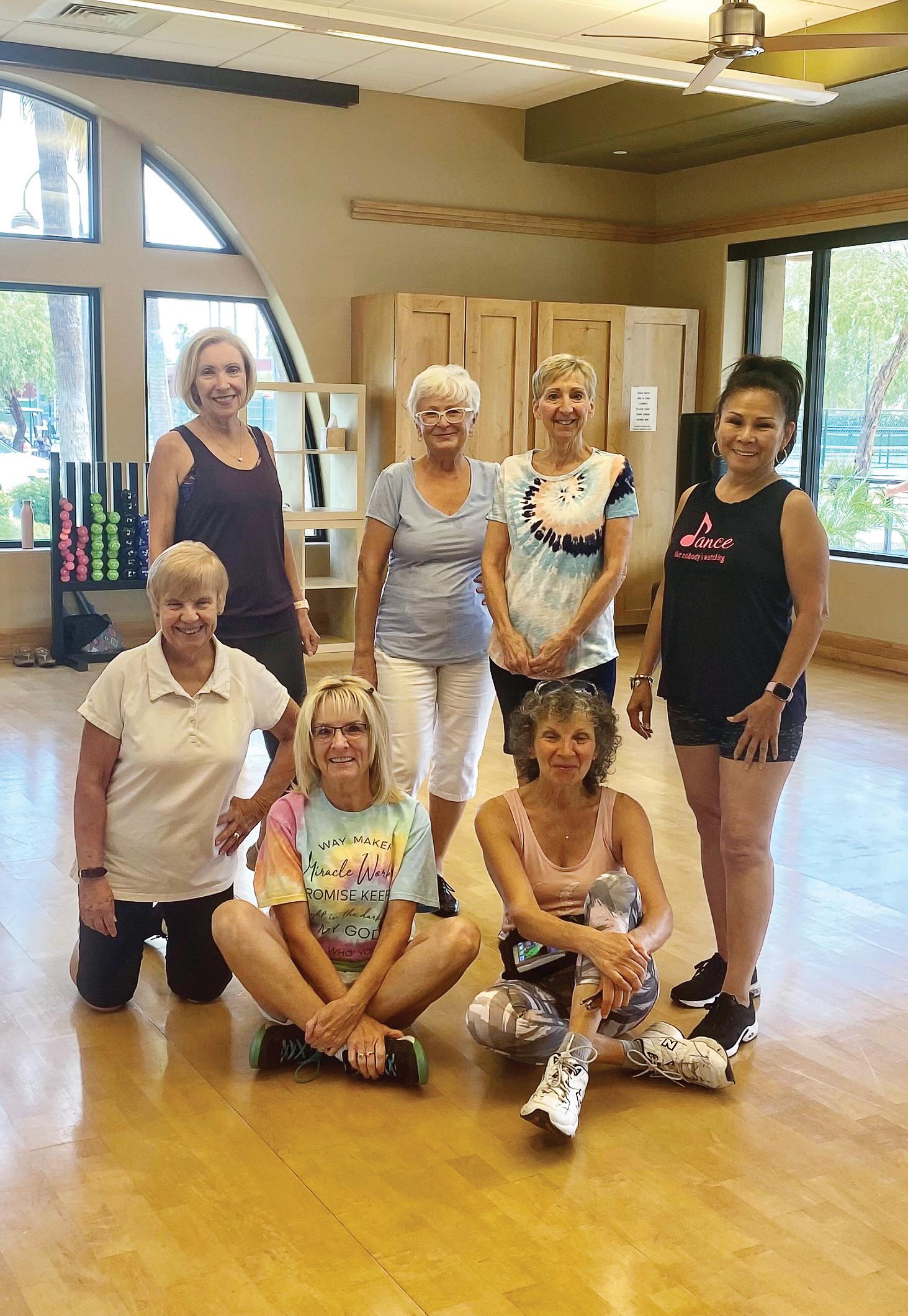 Members of the intermediate dance class