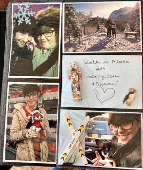 Julianne's scrapbook page