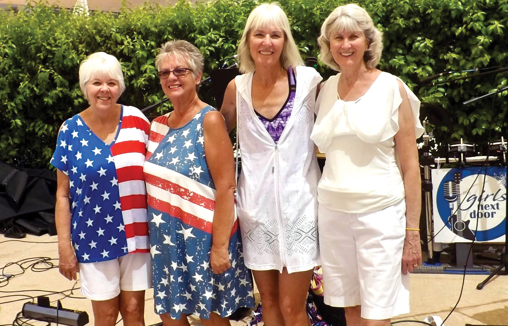 Band members (left to right): Gerri Bradley, Connie Drew, Lisa Hunt, and Connie Koza