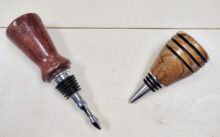 We have bottle stoppers made from mesquite wood with the U.S. Coast Guard emblem.