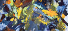An abstract triptych by Nils Johnson