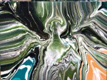 An acrylic pour by Linda Luttrell