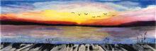 A lakeside sunset by Nancy Friedman