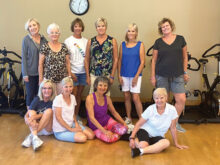 Members of the summer combined improver and intermediate Line Dancers