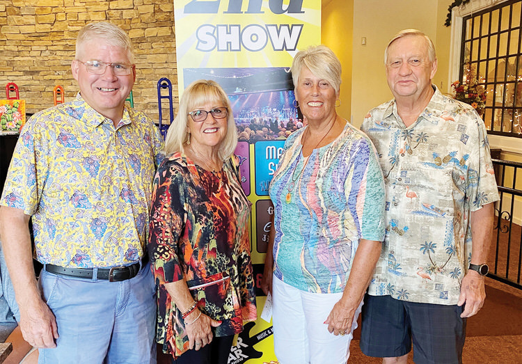Rick and Carol Kvanges with Jim and Betty Lundin